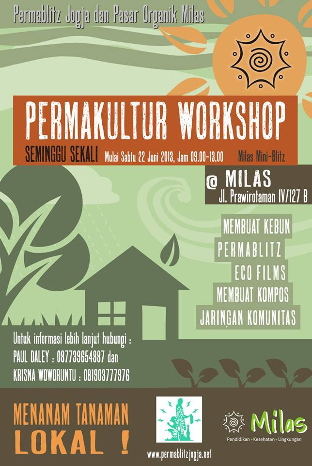 the graphic poster is from International Permaculture Day