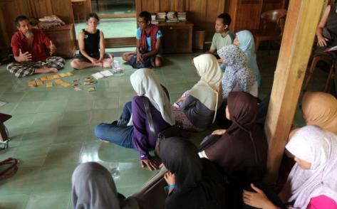 diskusi di Institut Permakultur Bumi Langit, Imogiri, Yogyakarta